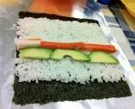 Rellenamos el maki sushi
