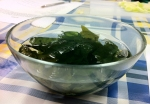 Algas wakame hidratadas