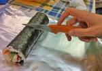 Cortamos el maki sushi