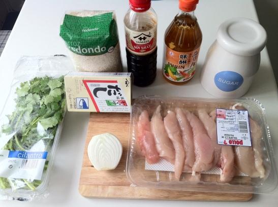 Ingredientes Oyakodon
